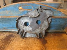 Very early folky goat cookie cutter from Pa.