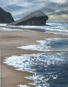 Sea Paintings, Waves, Outdoor, Landscape Paintings, Outdoors, Ocean Waves, The Great Outdoors, Wave, Beach Waves