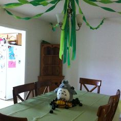 Decorations for our Totoro-themed birthday party