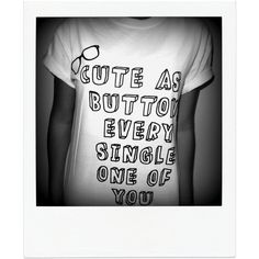 Cute as a Button Shirt Harry Styles Marcel One Direction 1d ($15) ❤ liked on Polyvore featuring tops, shirts, one direction, t-shirts, white, women's clothing, white tops, white button shirt, button shirts and white shirt