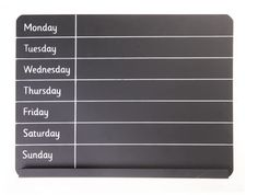 Weekly Meal Planner Chalk Board - Great to plan out those weekly meals and activities