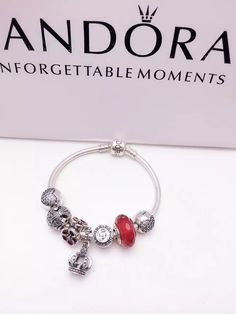 50% OFF!!! $199 Pandora Charm Bracelet. Hot Sale!!! SKU: CB01292 - PANDORA Bracelet Ideas
