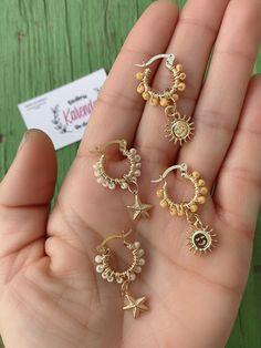 Wire Jewelry Rings, Handmade Wire Jewelry, Ear Jewelry, Handmade Accessories, Wire Wrapped Jewelry, Cute Jewelry, Beaded Jewelry, Jewelry Making, Beaded Bracelets