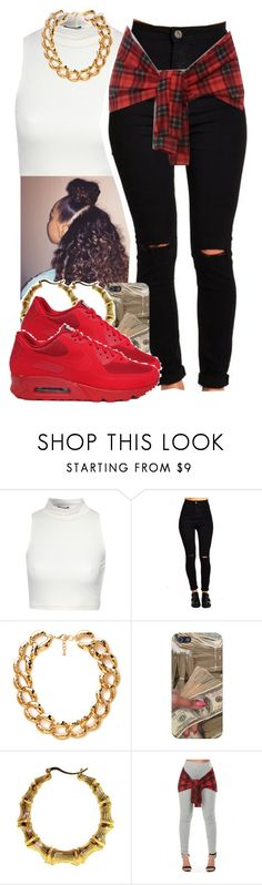 """""""Sans titre #404"""" by lesliekabengele ❤ liked on Polyvore featuring Jane Norman, Forever 21 and NIKE"""