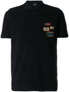 Camisa polo com patches FENDI Polo Ralph Lauren, Mens Tees, Lacoste, Polo  Shirt 635170fafb