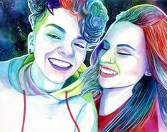 Personalized Lesbian girlfriend gift, Lesbian wedding gift for lesbian wife, Custom lesbian couple portrait painting, Lesbian art from photo Lesbian Gifts, Lesbian Art, Watercolor Portrait Painting, The Artist, Lesbian Wedding, Couple Portraits, Bridal Showers, Valentine Gifts, Wedding Gifts