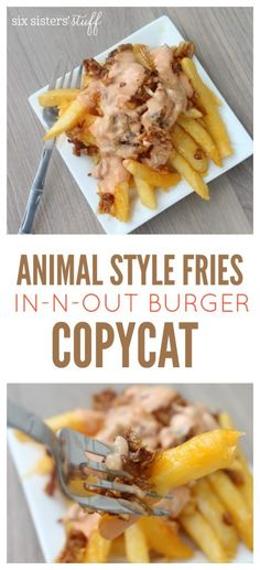 Animal Style Fries {In-N-Out Burger Copycat} on SixSistersStuff.com | The most tasty and easy fries to make!