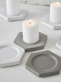 Geometric Candle Plates