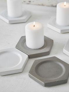 Geometric Candle Plates