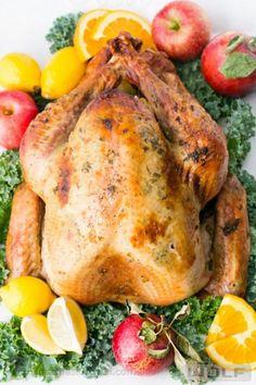 Juicy Roast Turkey. This turkey has the juiciest, most flavorful turkey breast! KEEPER!! | natashaskitchen.com