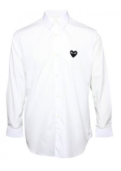b3d1c2359 Comme Des Garcons PLAY Menswear Online | PLAY Mens Black Heart Classic Shirt  White | Buy