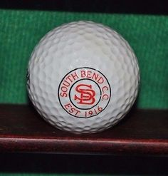 South Bend Country Club logo golf ball.