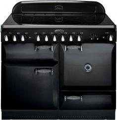 Rangemaster ELAN 110 INDUCTION BLACK 110cm Electric Range Cooker