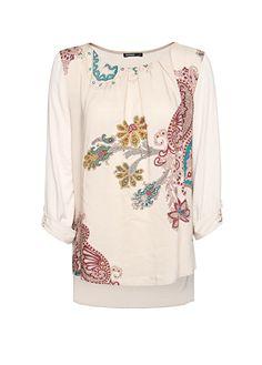 MANGO - Scarf print blouse