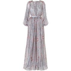 Zimmermann Arcadia Braid Sashay Dress ($1,995) ❤ liked on Polyvore featuring dresses, day dresses, crinkle dress, zimmermann dress, zipper dress and paisley dress