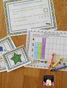 Blending & Segmenting Phonemes- build phonemic awareness skills:  includes 2 assessments- great for reading groups, literacy centers, and RtI groups