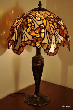 Big Ball spherical amber lamp made Tiffany by SilverAmberArtGifts, zł2490.00