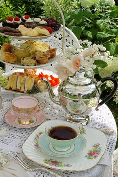 High Tea: sandwiches,scones, devonshire cream, lemon curd, mini quiches, sweets & dessert as well as Lady Baker's tea.