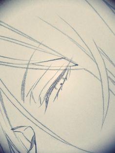 A new sketch of Sebastian's eye by Yana Toboso.