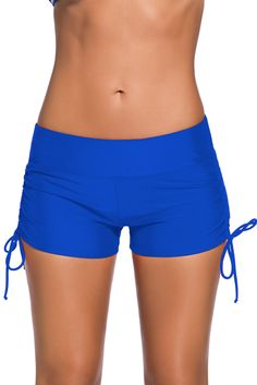 Full bottom coverage to match all your favorite swim tops. This Adjustable Ties Swim Bottom Shorts is of durability and excellent elasticity; It's light weight, easy to care, breathable and quick dry also. Swim Shorts Women, Swimsuit With Shorts, Swimsuit Cover Ups, Boy Shorts, Plus Size Swimsuits, Women Swimsuits, Fashion Swimsuits, Sporty Swimsuits, Modest Swimsuits