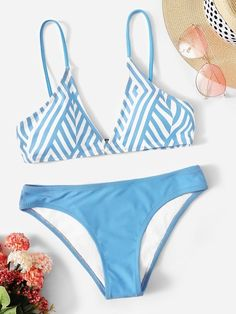 7433d3e473 Chevron Top With Panty Bikini Set  swimwear190116612  -  24.00    cuteshopp.com
