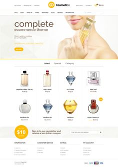 Cosmetico is an advanced OpenCart theme fully customizable and suitable for e-commerce websites of any purpose. The template is characterized by universality, attractiveness and easy customization. With the gradients, unlimited colors and GoogleWebFonts you can create your dream shop in few minutes. In addition, we have created for you 5 basic color version that you can further edit.