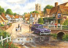 Castle Combe by Terry Harrison 1000 piece jigsaw puzzle Canada | CanadaPuzzles.ca