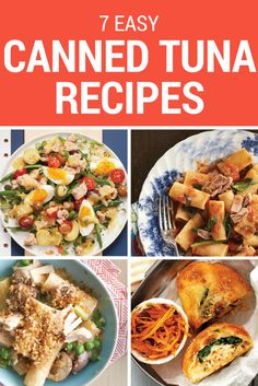 Quick, open the cupboard. You've got a can of tuna? You've got dinner! Quick Pasta Recipes, Easy Chicken Dinner Recipes, Tuna Recipes, Quick Easy Meals, Soup Recipes, Healthy Breakfast Recipes, Healthy Dinner Recipes, Healthy Tuna, Crockpot Veggies