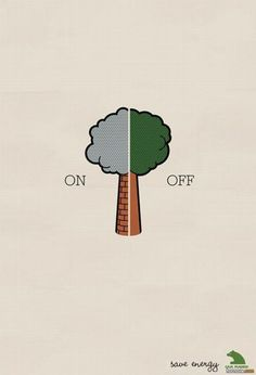 The visual is simple but the meaning is clear. I never think of the equivalent between tree and chimney and I think it is smart