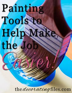 Painting Tip and Tools - Painting Tools to Make the Job Easier - #painting #tools #cooltip
