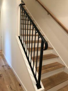Custom radius design pickets and handrail