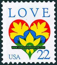 22c Heart, Greetings Stamp 1987 - well, not really vintage....not yet