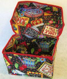 Fabric recipe box