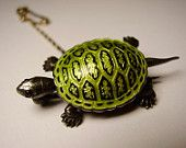 Antique American Art Nouveau Egyptian Revival Green Guilloche Enamel Scarab Stag Beetle Insect Brooch.
