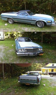 low miles 1976 Ford Ranchero vintage for sale Vintage Trucks For Sale, 1979 Ford Bronco, Ford Transmissions, 1973 Mustang, Pickup Car, Vintage Year, Garage Art, Colorful Interiors, Detroit