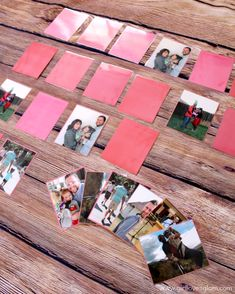 Family Picture Match Game for Kids plus 100+ other ideas for using family pictures! Capturing-Joy.com