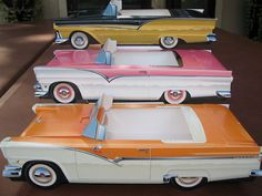 1955, 1956 & 1957 Ford Cardboard Cars Diner Paper Food Tray  Party Favor / Gift