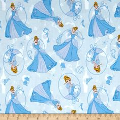 Disney Princess Cinderella Light Blue from @fabricdotcom  Licensed by Disney to Camelot Fabrics, this magical Disney princess cotton print is perfect for quilting, apparel and home décor accents. This is a licensed fabric and not for commercial use. Colors include shades of blue, white, yellow, black and pink.