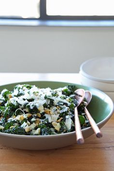 ... and Pine Nuts Get the recipe: kale salad with pecorino and pine nuts