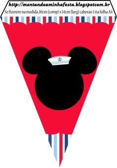 Montando minha festa: Kit grátis para imprimir Mickey marinheiro!