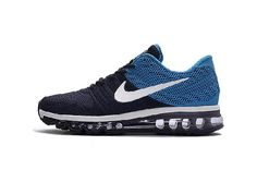 Newest Nike Air Max 2017 Cadet Blue Navy Sports Shoes Cheap Cost - $69.88