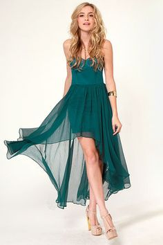LULU*S | Blaque Label Star Status Strapless Teal Dress