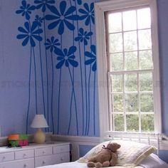Трафареты для стен, купить трафарет на стену для декора и росписи и для оформления помещений - Полевые цветы
