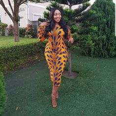 Hottest and Trendiest Ankara Styles for Celebrities - DarlingNaija Latest Ankara Short Gown, Ankara Short Gown Styles, Trendy Ankara Styles, Short Gowns, African Fashion Ankara, Ankara Dress, African Women, Fashion Pictures, Fashion Outfits