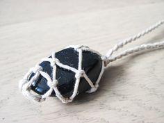 **ON SALE** $24.00 - Blue Goldstone Crystal Hemp Necklace
