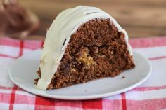 "My mom's favorite cake made in a bundt pan! This German Chocolate Bundt Cake has the coconut filling on the inside, reminiscent of those ""tunnel cakes"" from my youth. Delicious and weight watcher friendly, this is a must make recipe! I felt like baking a cake. I hadn't baked dessert in so long and was feeling the...Read More »"