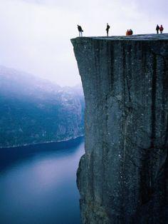 Preachers Rock in Preikestolen, Norway