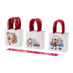 IKEA - VINTERMYS, Gift bag, Make the wait for Christmas more fun by filling the 24 gift bags with small presents and giving them away as a personal advent calendar.You can number the bags from 1 to 24 with the accompanying stickers.The bags also make perfect sweets bags for a children's party or for bringing a little gift when you're invited to a party.