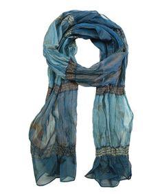 Another great find on #zulily! Blue Translucent Shirred Scarf #zulilyfinds