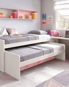 Un espacio pequeño no tiene por qué ser un impedimento para conseguir tener un Bedroom Bed Design, Girl Bedroom Designs, Small Room Bedroom, Baby Bedroom, Home Bedroom, Room Decor Bedroom, Girls Bedroom, Bedroom Furniture, Bedroom Ideas